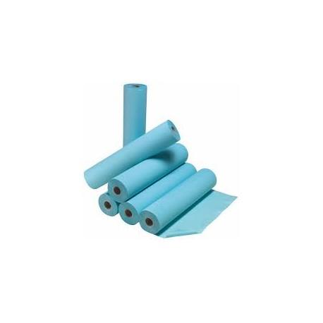 Drap d'examen plastifié bleu 50 cm