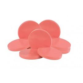 Cire basse température en galets roses