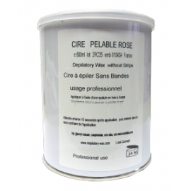 Cire à épiler pelable rose en pot de 800 gr