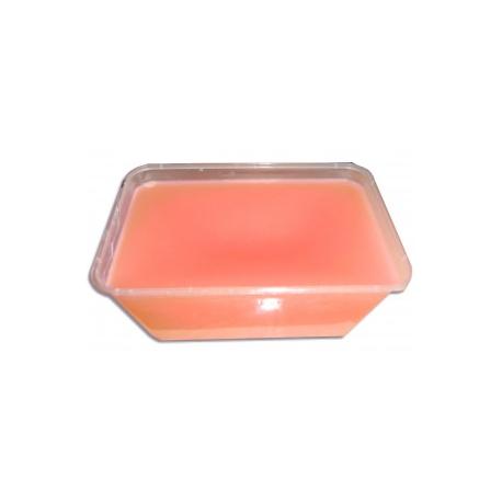 Paraffine orange au parfum de pêche